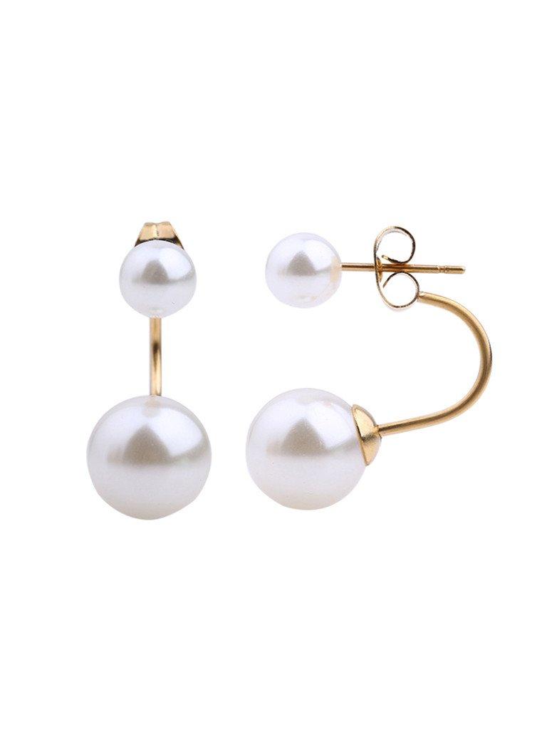 drey Pearl-Swing Earrings - Gold