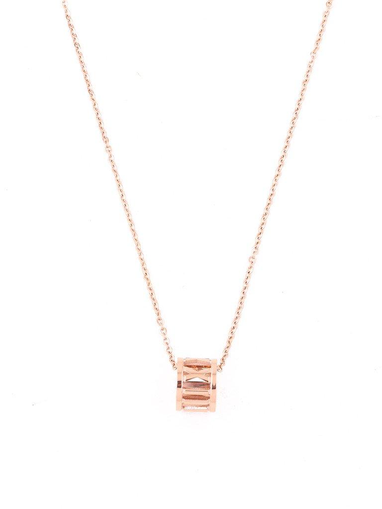 Roman Empress Charm Necklace - Rose Gold