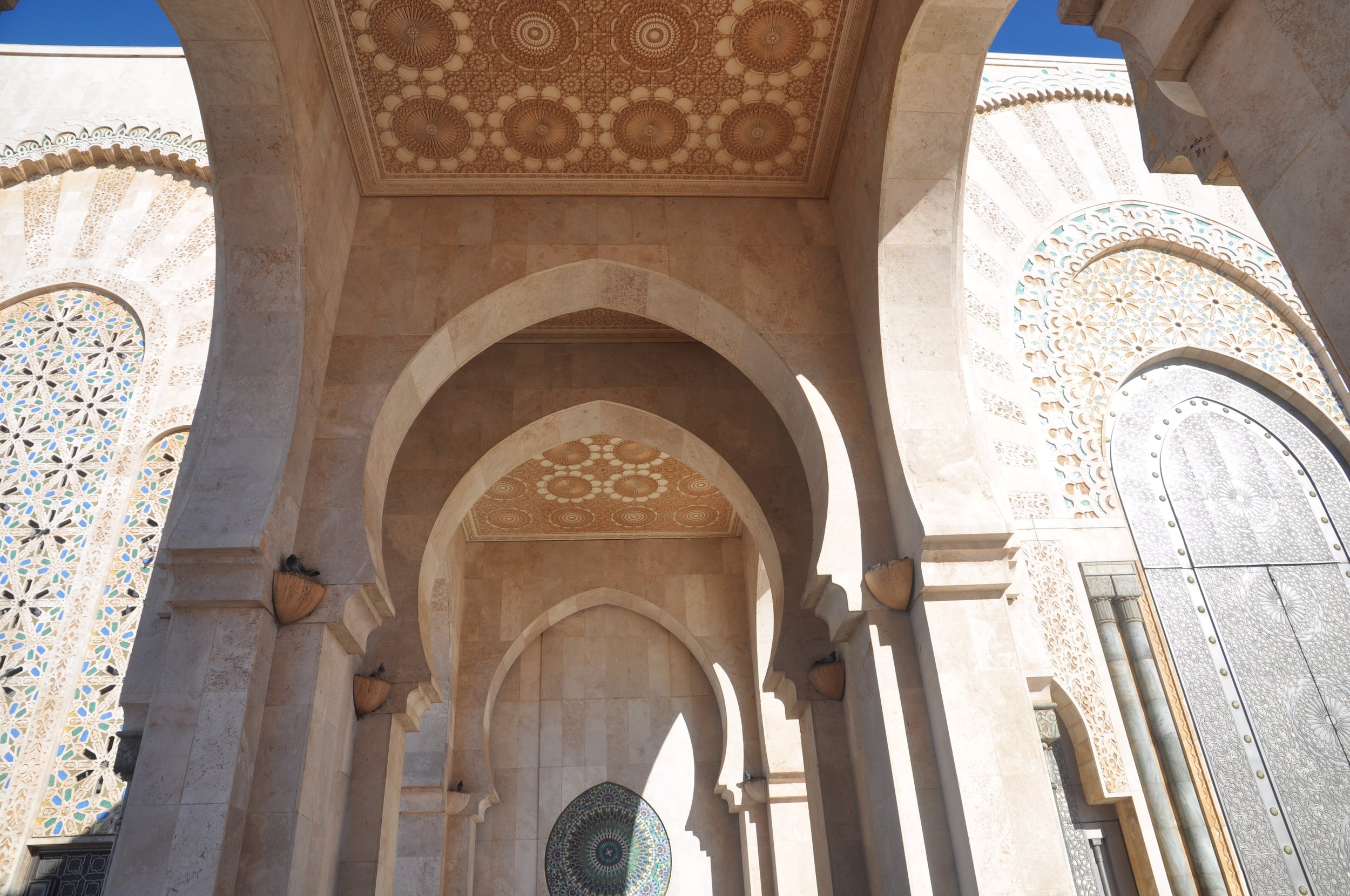 Some of the intricate details of Hassan II, completed in 1993 and costing up to $700 million.
