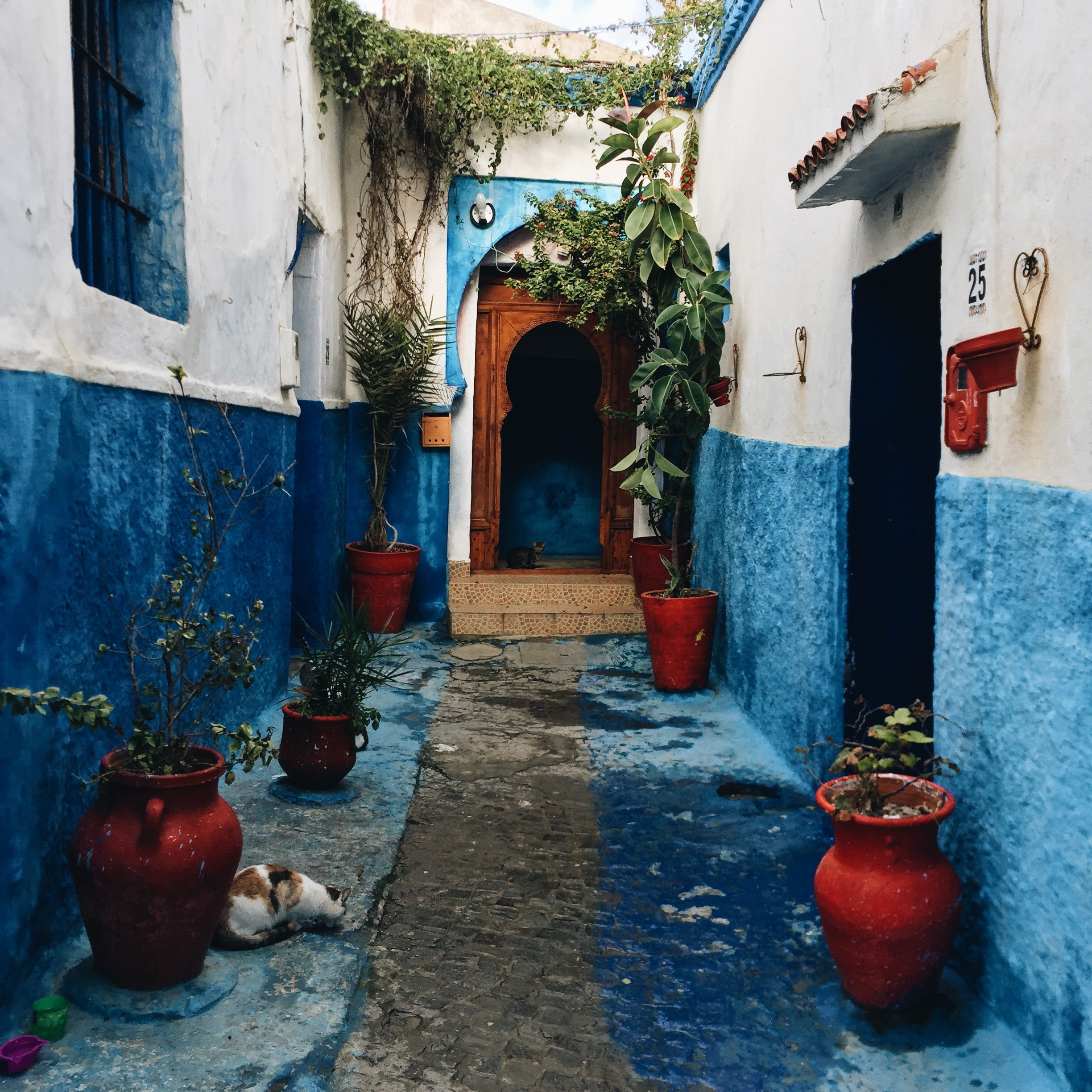 Quiet alleyway in the k asbah  - or fortified old town - of Rabat, the current political capital.