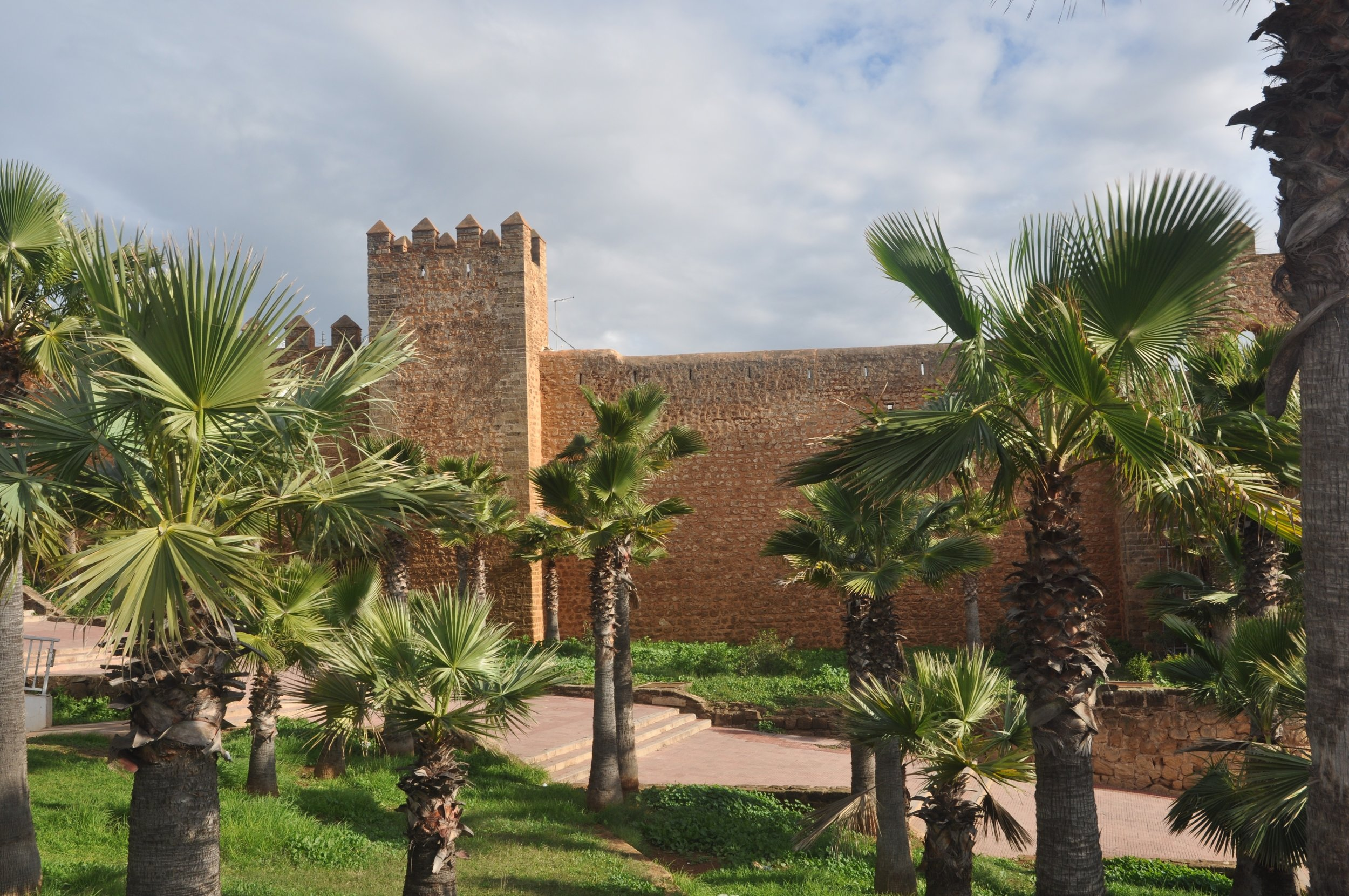 The Kasbah des Oudaias (seen from the outside) was built in the 12th c. by the Almohad caliphate which controlled southern Spain as well.