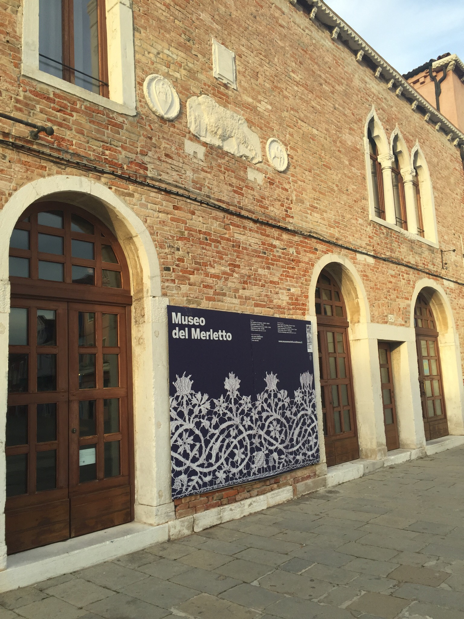 """"""" Lace museum in Burano, Italy, where I first came across using lace as a possible fabric material, and the interesting history of weaving."""""""