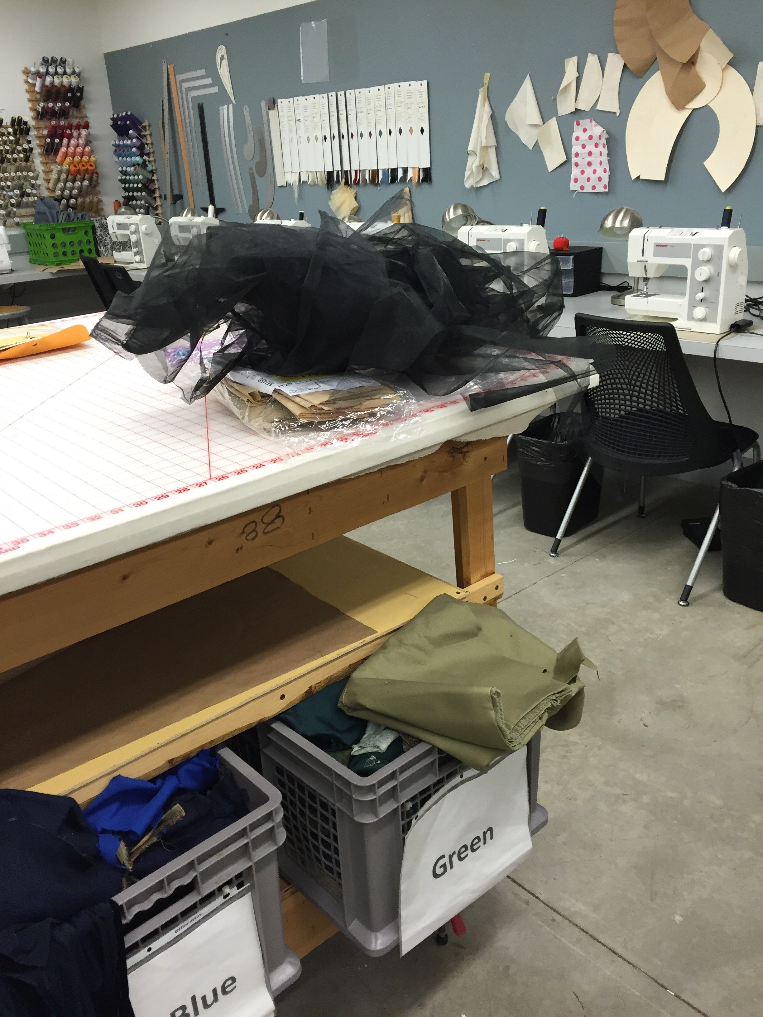 """""""Playing with and testing the drape of material in the costume shop"""""""