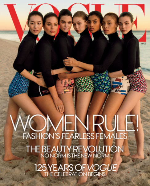 Vogue's March issue cover; image  via