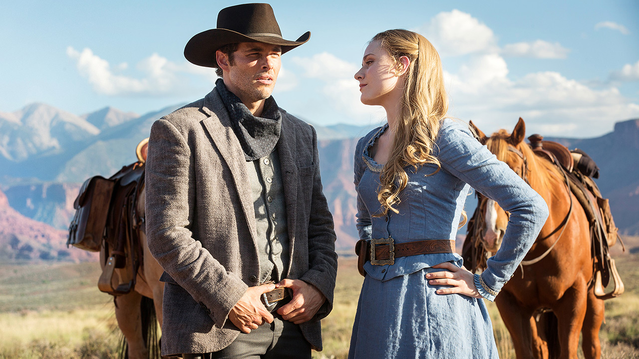 James Marsden and Evan Rachel Wood; image  via