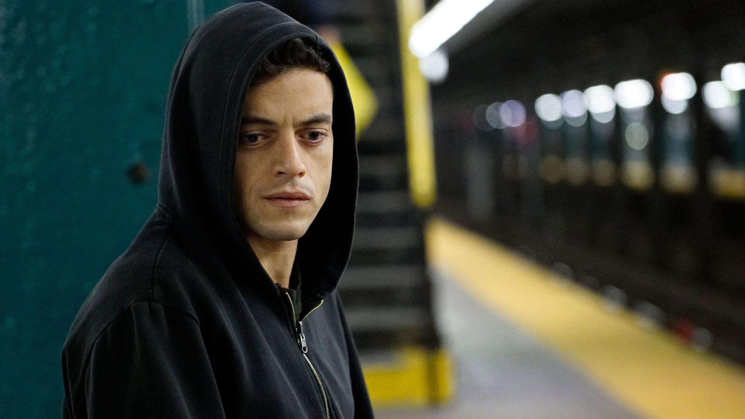 Rami Mallek as the drug addict protagonist; image  via