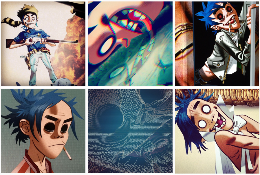 New art for  Humanz  of 2D, Gorillaz's virtual frontman - image from  kanyetothe