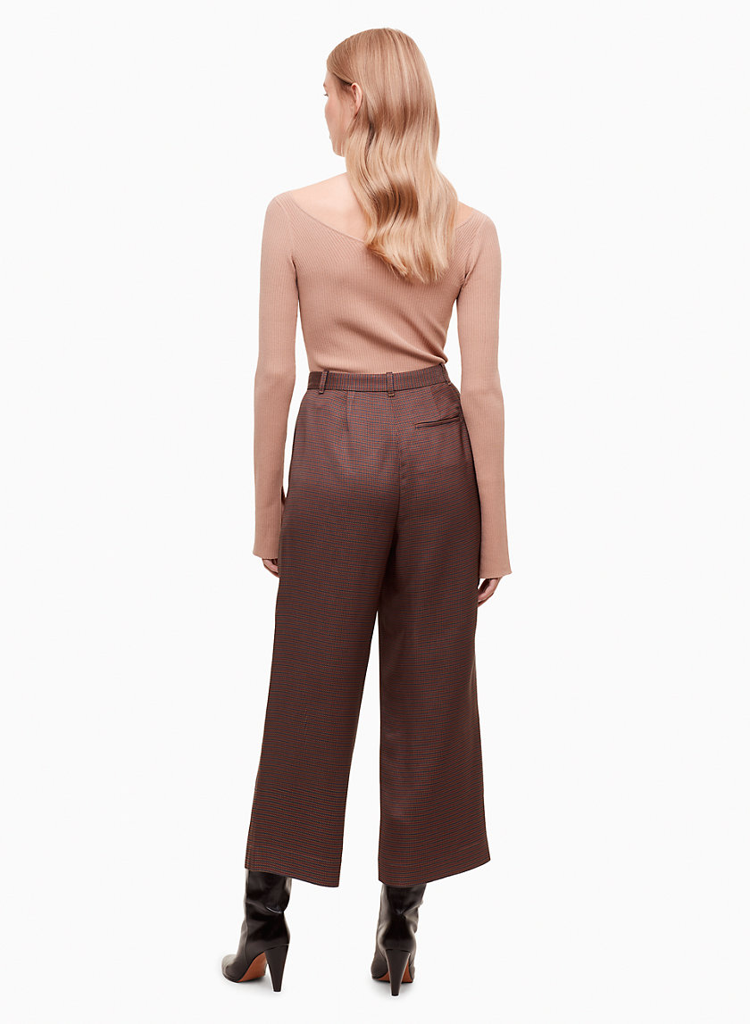 Privola Pant - These limited-edition trousers are made with luxe fabric from a premium Italian mill. The high-waisted fit and soft pleating make for an easy, flattering silhouette.Shop here.