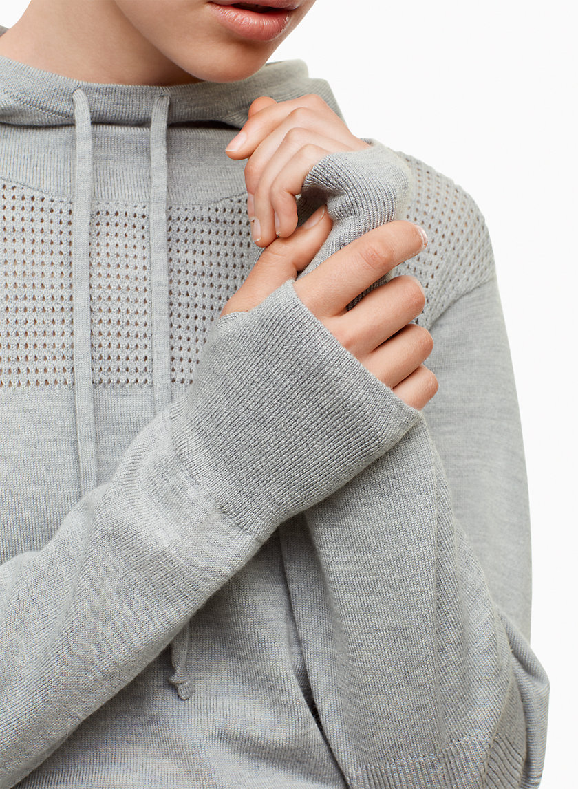 Audric Sweater - This cozy pullover is made from a merino wool blend that's lightweight and naturally odor resistant. A pointelle stitch on the front and back yoke provides extra ventilation where you need it most.Shop here.