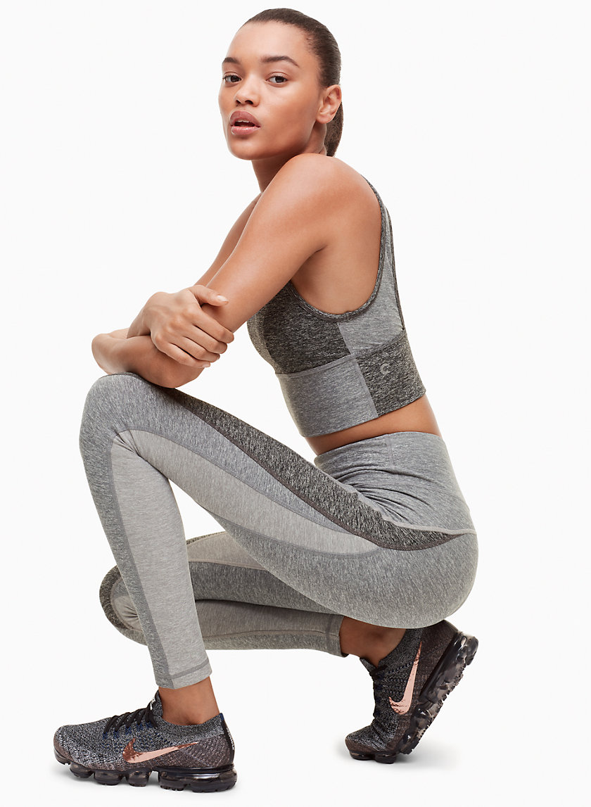 Yannick Pant - Strategic color blocking makes these high-rise leggings extra flattering. Super-soft fabric wicks sweat, and flatlocked seams reduce friction during workouts.Shop here.