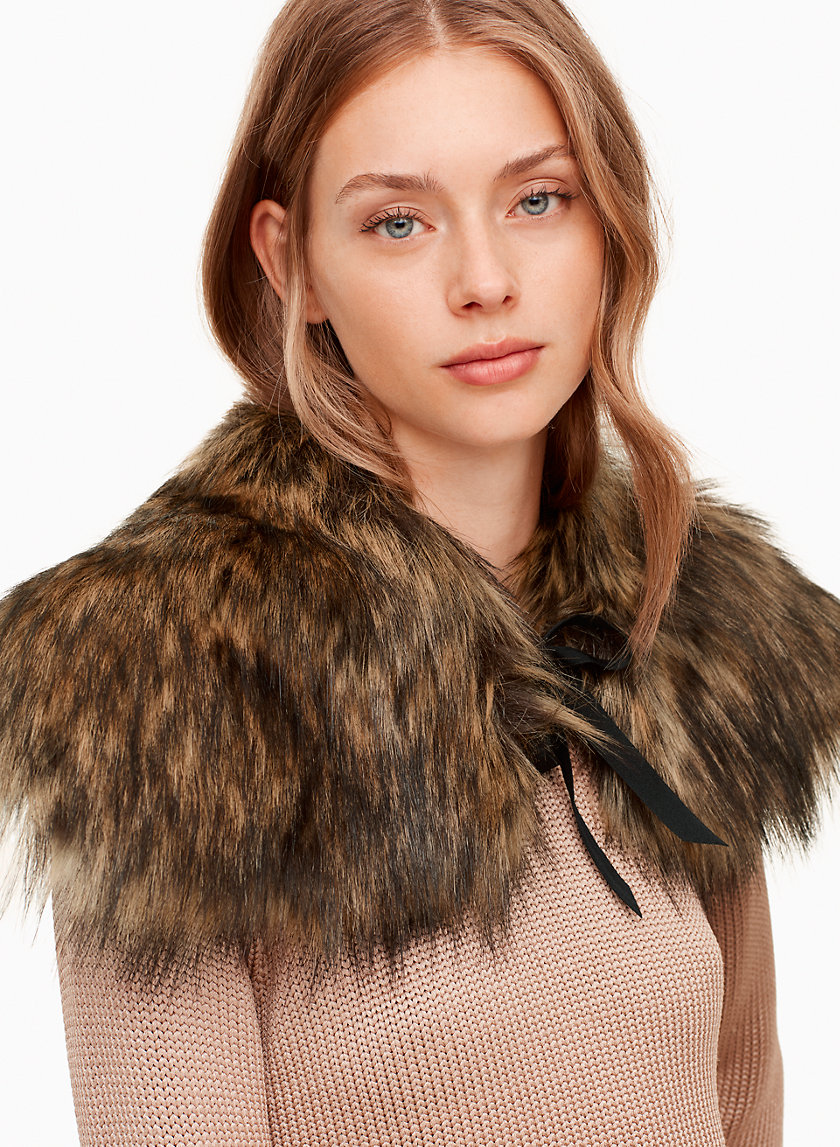 Natans Collar - Perfect for layering, this collar is made with Real Faux Fur - our luxe vegan fur with an authentic look and feel. It's lined with pure silk that's smooth against the skin.Shop here.