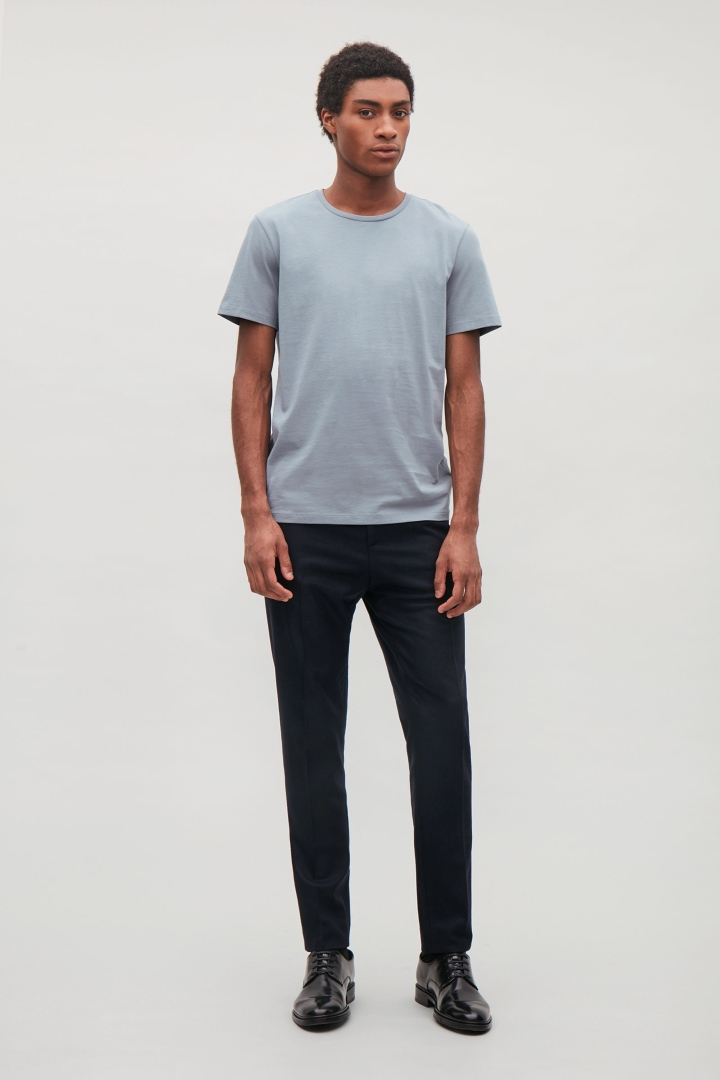 The quality of the blank tees from COS parallel the silky smooth texture of A.P.C. blank tees.