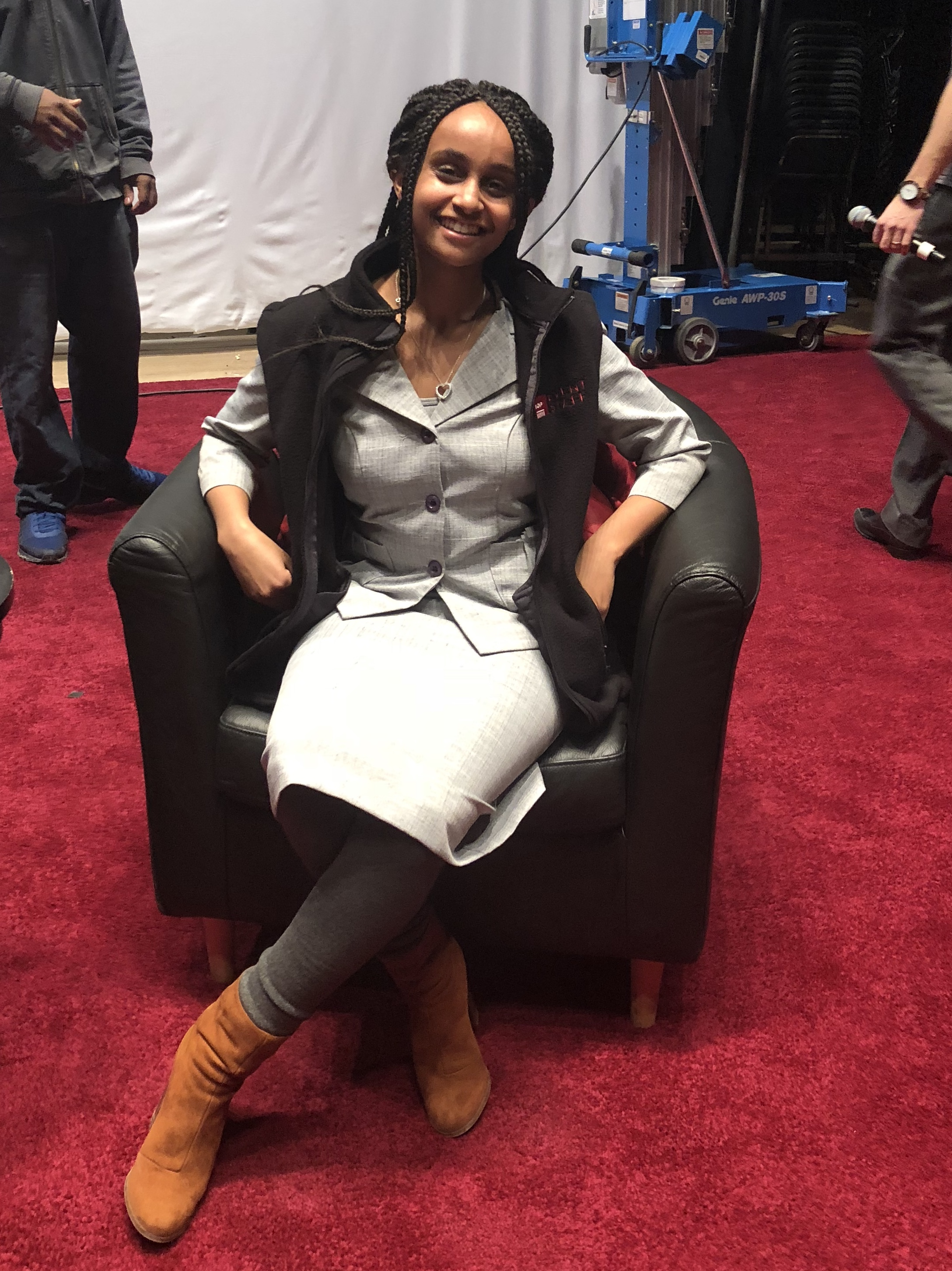 Me sitting in the same chair Trudeau sat in!