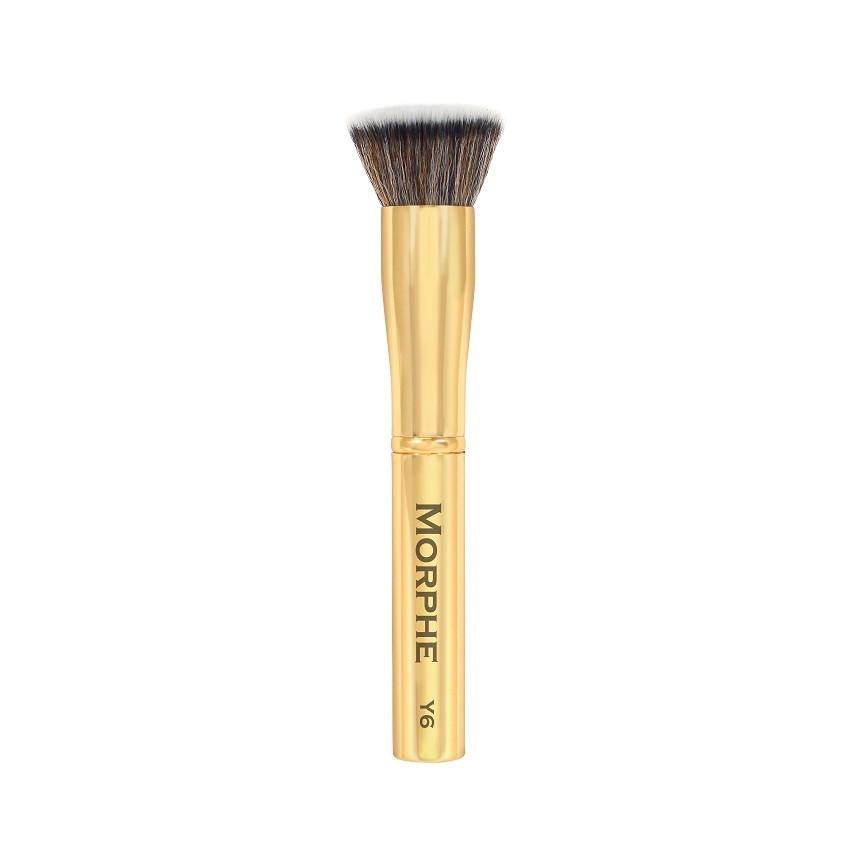 Flat top makeup brushes - As an avid watcher of Laura Lee's Youtube channel, I began to believe in the power of a flat top makeup brush for aforementioned foundation. I use the Ecotools one, but the Morphe option is an attractive one due to its gold color and exalted status in the makeup community.