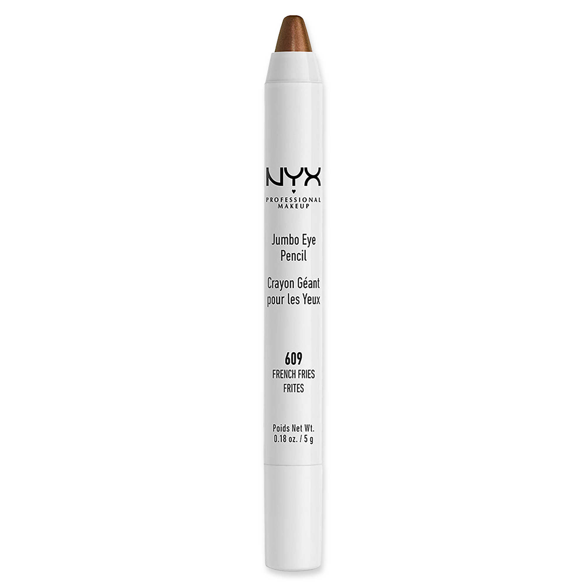NYX Jumbo Eye Pencil in French Fries - As someone who has little to no skill with makeup, this eye shadow stick has been a lifesaver for nights out, with French Fries giving noticeable but subtle depth to my eyelids.Clocking in at less than $5, it's definitely worth a try.