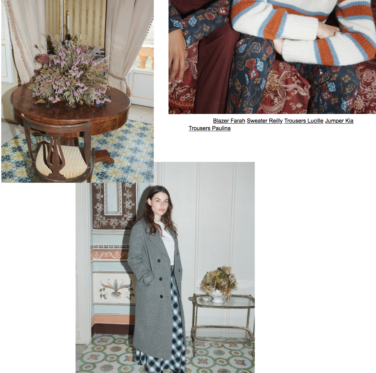 WINTER BLOOM - Dark florals for winter (groundbreaking!), paired with deep gem and burnt tones and patterned mismatched with stripes and plaid.