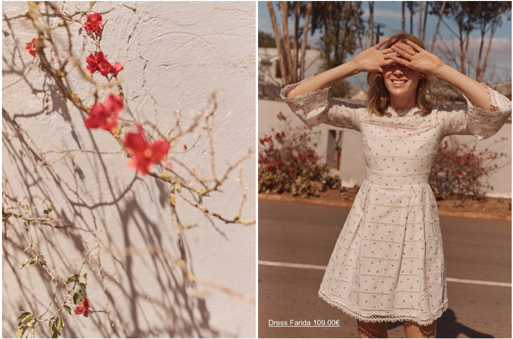 SUMMER OF LOVERS - Dainty florals and cream colors combine for the ultimate breezy and easy look for the now fading summer heat.