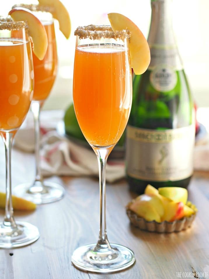 Apple Cider Mimosa - Put a spin on your basic mimosa for brunch by substituting orange juice with cider. Who said you can't compare apples to oranges? You sure can when they are mixed with some bubbly.
