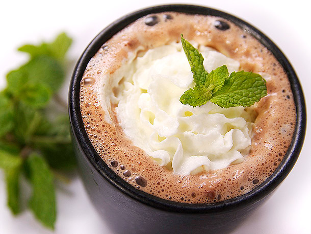 Minty Tequila Hot Chocolate - The peppermint wakes you up and the chocolate cures the hangover. And it's super easy to make!