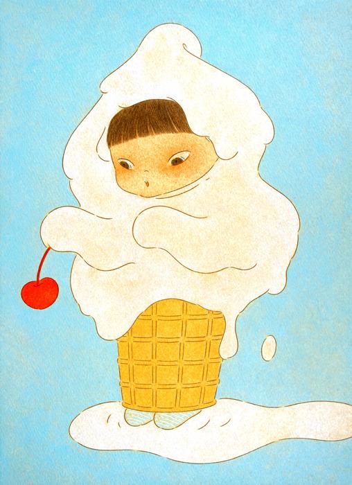 - Ice Cream Phantom 1 / 2017 / oil on paper