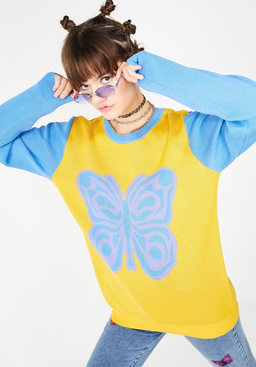 Gentle Nature Butterfly Sweater