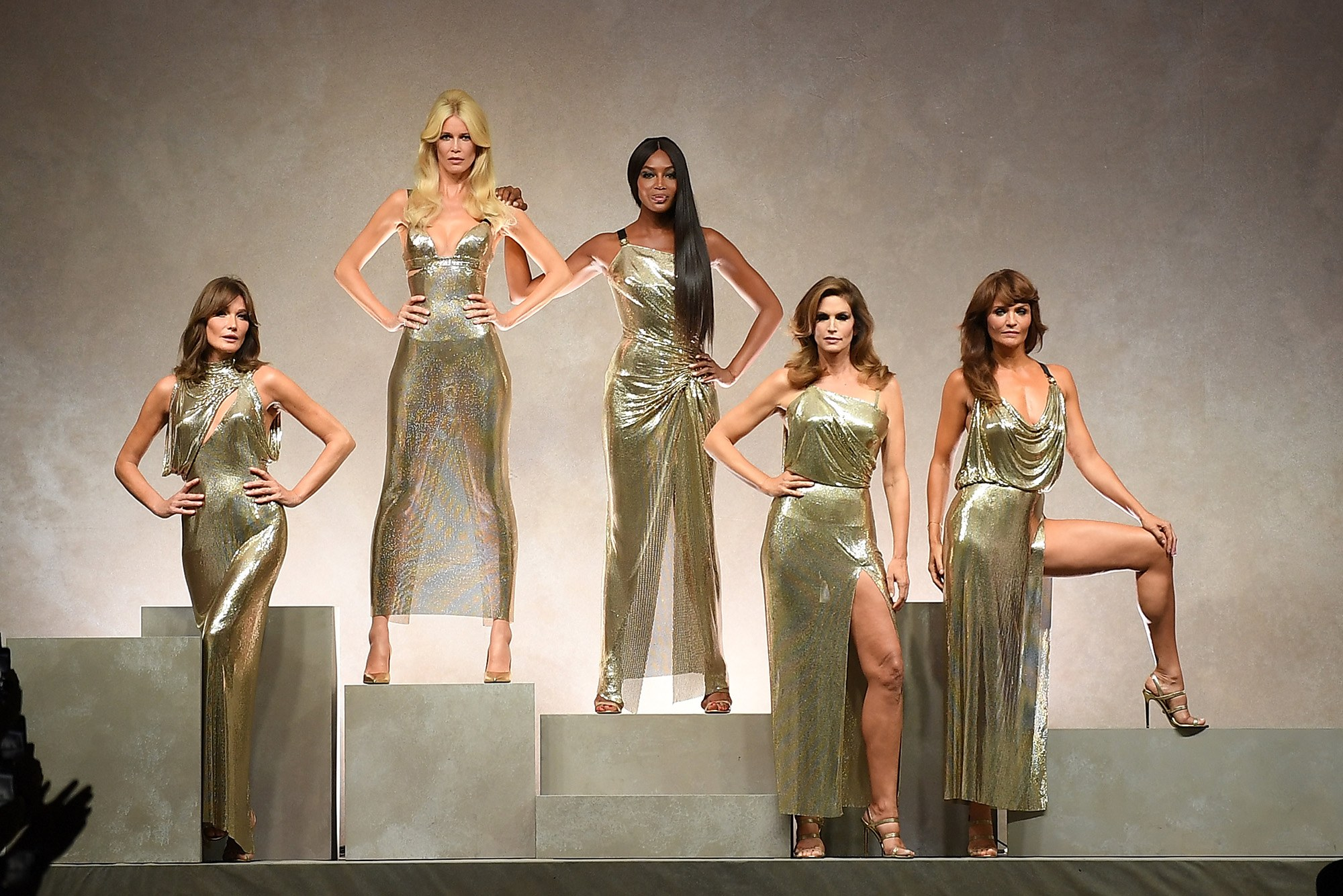 Carla Bruni, Claudia Schiffer, Naomi Campbell, Cindy Crawford and Helena Christensen. Image  via