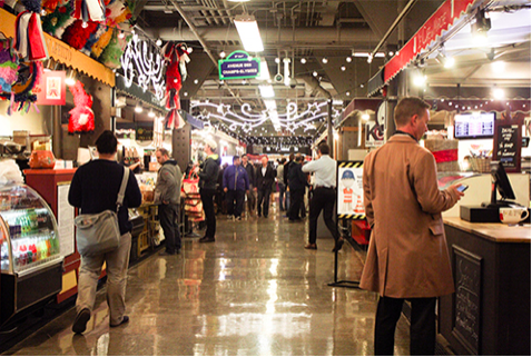 Food Halls - Food Halls are basically just indoor markets filled with food, so you really can't go wrong. Some of the best ones in Chicago include the Chicago French Market, Eataly, Revival Food Hall, and Foodlife. With multiple vendors all in one location, there's definitely something for everyone.