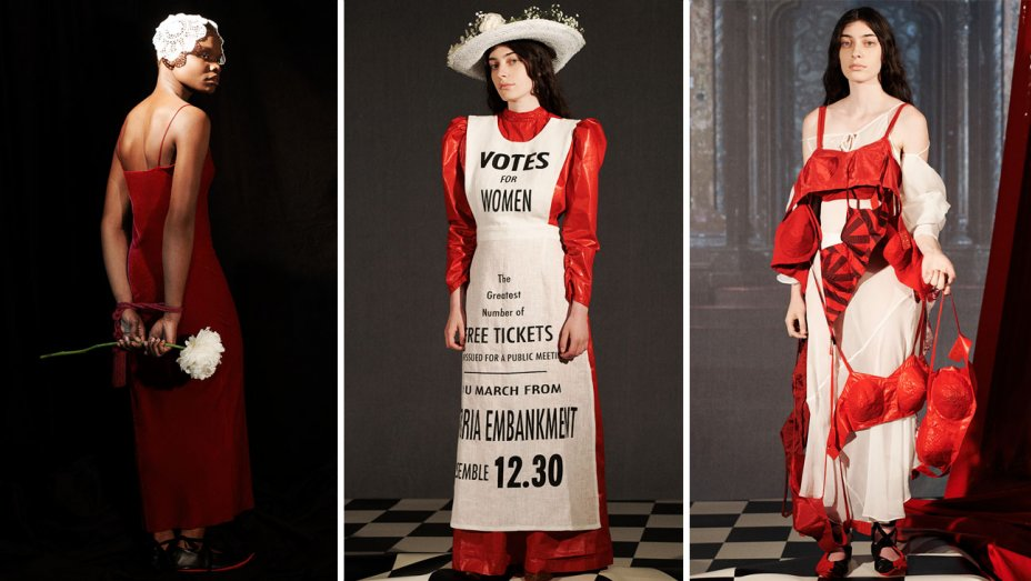Vaquera, one of the brands featured at L'Insane, debuted a collection inspired by  The Handmaid's Tale.  Image  via .