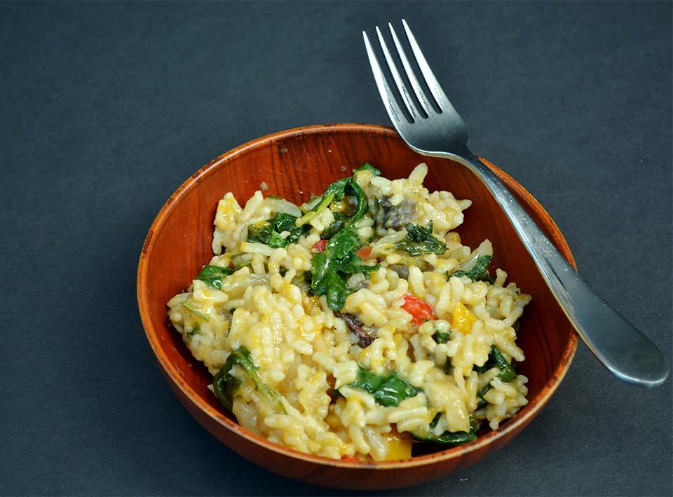BUTTERNUT SQUASH RISOTTO - Recipe & Image via MAKE REAL FOOD