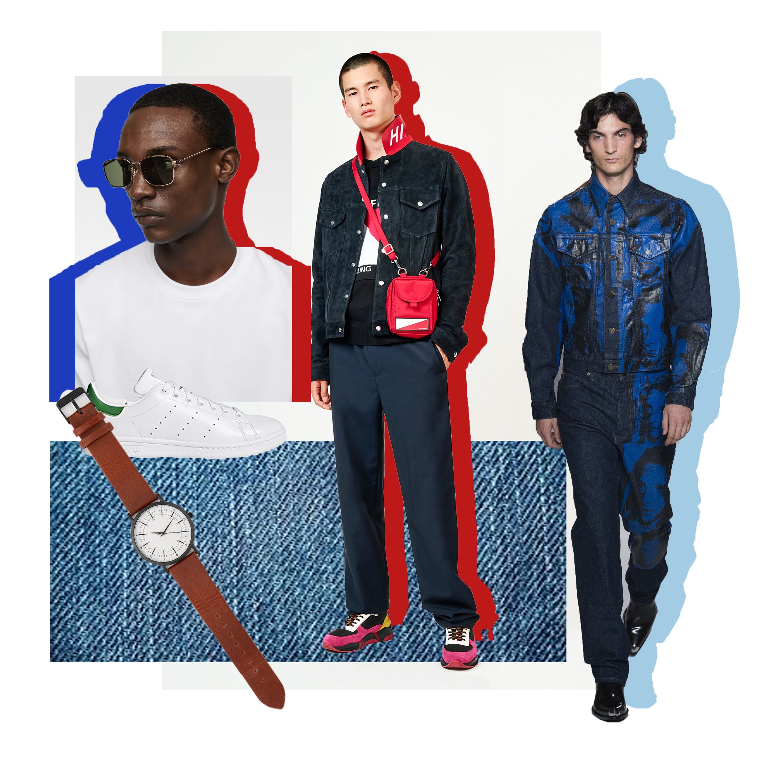 The American Boy - Trends for this year's show point us towards a reinterpretation of what it means to be American. If Kanye can rock denim to the Met Gala, surely you can find a way to rock it to the MODA Fashion Show. Pair a shirt coat with a white dress shirt, light-wash denim jeans and white sneakers for a low-key take on the trend. Or trade in the coat for a red, white and black bomber jacket to take the look in a sportier direction. For accessories, a simple watch, sunglasses or even a cross body bag will add practicality and personality to your all-American staples. It's a super easy way to take a daytime outfit into the night.