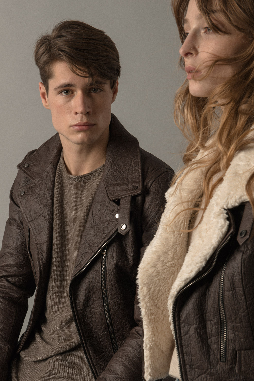 Altiir, a vegan leather brand featured coats made of pineapple leather. Photo  via