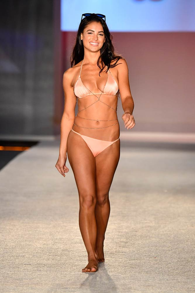 The Strappy Suit - We're definitely seeing a focus on strappier, more playful bikinis. It's all about being carefree, loose and comfy while still maintaining the sexiness of minimal cuts. Accessorize with a straw hat or a super cute pair of sunglasses for a classic all-American look, or layer up body chains, lace sweaters and maxi-skirts for a bohemian take on the trend.