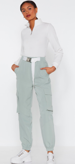 Cargo pants - OK listen, I KNOW what you're about to say. But hear me out, cargo pants have been reinvented and are making a comeback. We have reclaimed cargo pants and made it acceptable for people other than dads and tourists to wear them. They're comfortable, pretty easy to style, and seem like you tried harder than you did to look good.