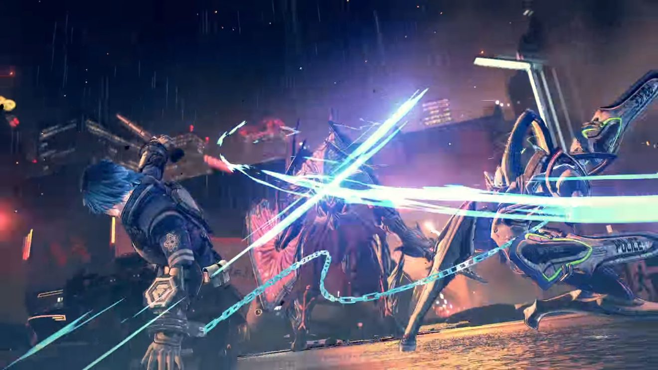 """Astral Chain - Hideki Kamiya, the Bayonetta series director, is making a new action/combat game slated for a late summer release. We only have one trailer so far, but this game looks STUNNING. The graphics and combat visual effects are gorgeous, and the combat systems seem quite innovative using the new """"Chain"""" mechanic, where the protagonist is linked to a robot/android fighting side-by-side. If you like exciting games that keep you on the edge of your seat, Astral Chain seems to be worth waiting for.Image via"""