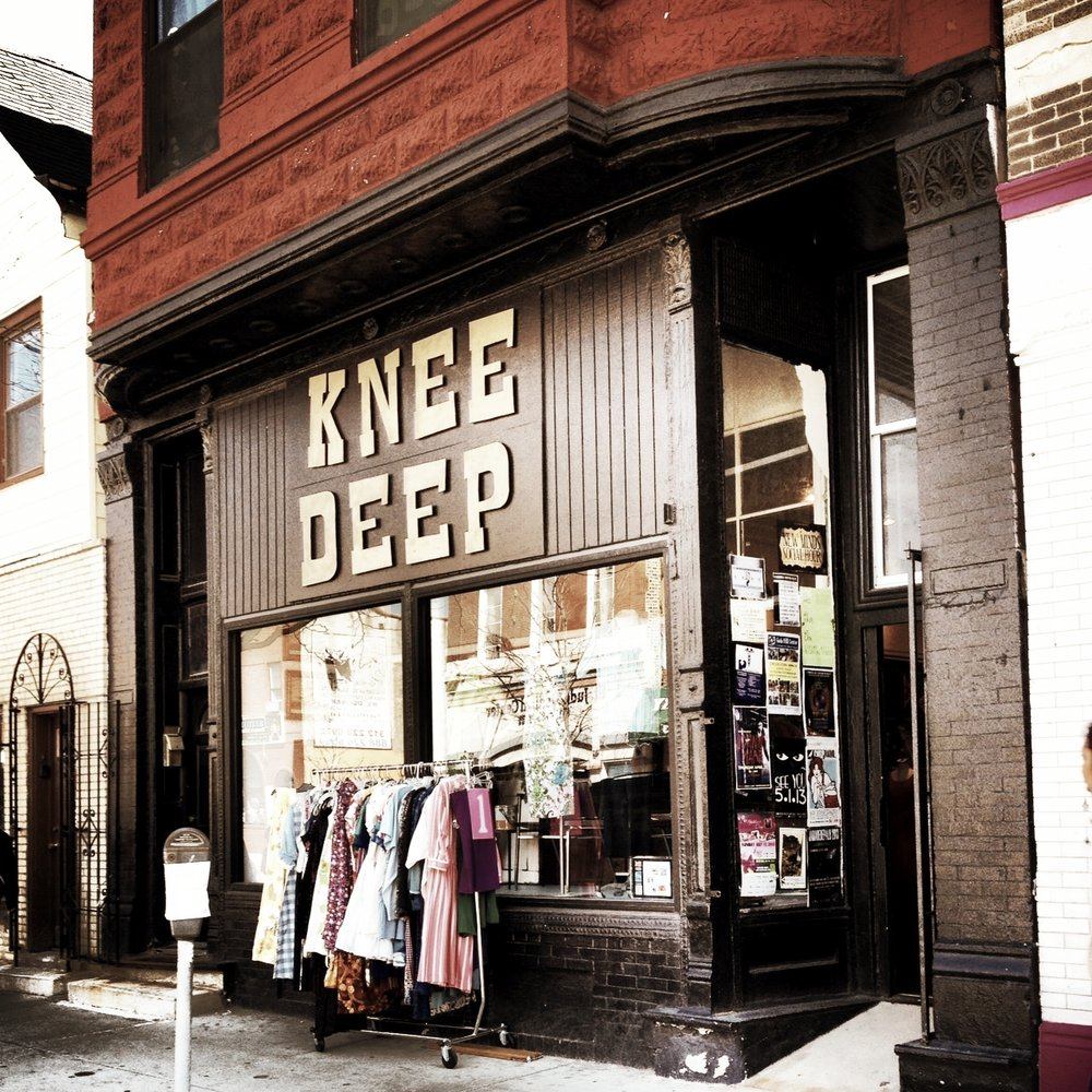 Knee Deep Vintage - Located right next door to Pilsen favorite Dusek's, Knee Deep Vintage is your new all stop shop for anything from authentic Japanese kimonos to perfectly worn-in camp t-shirts, vintage Levis and amazing 70s era summer frocks. The owners update inventory daily, so you're bound to find something new and exciting every time. If you're still in the mood for great finds, continue down 18th St. for Shady Rest Vintage and Vinyl, Very Best Vintage and Pilsen Vintage.