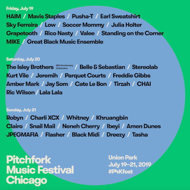 Pitchfork (July 19-21) - Another major music fest, Pitchfork features a three-day lineup of stars from Rico Nasty to Charli XCX. The event - hosted annually in Union Park also features an excellent records sale and a huge array of food and art from across the country. Click here to get ticketsImage via