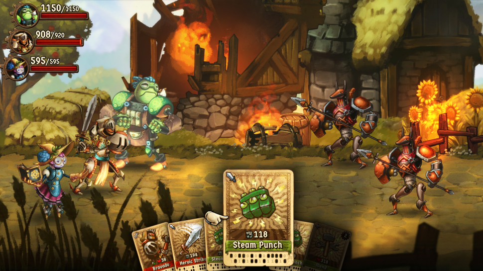 Steamworld Quest - I got this game on a Thursday, and literally couldn't put it down until I beat the campaign that Sunday. It is an RPG from the studio Image and Form who are famous for their steampunk aesthetic games. They somehow managed to make a game about medieval steampunk robots and the writing+characters are incredibly well done. The combat is actually a card game which is an interesting spin on traditional turn-based RPGs, and it is for sure worth your time.