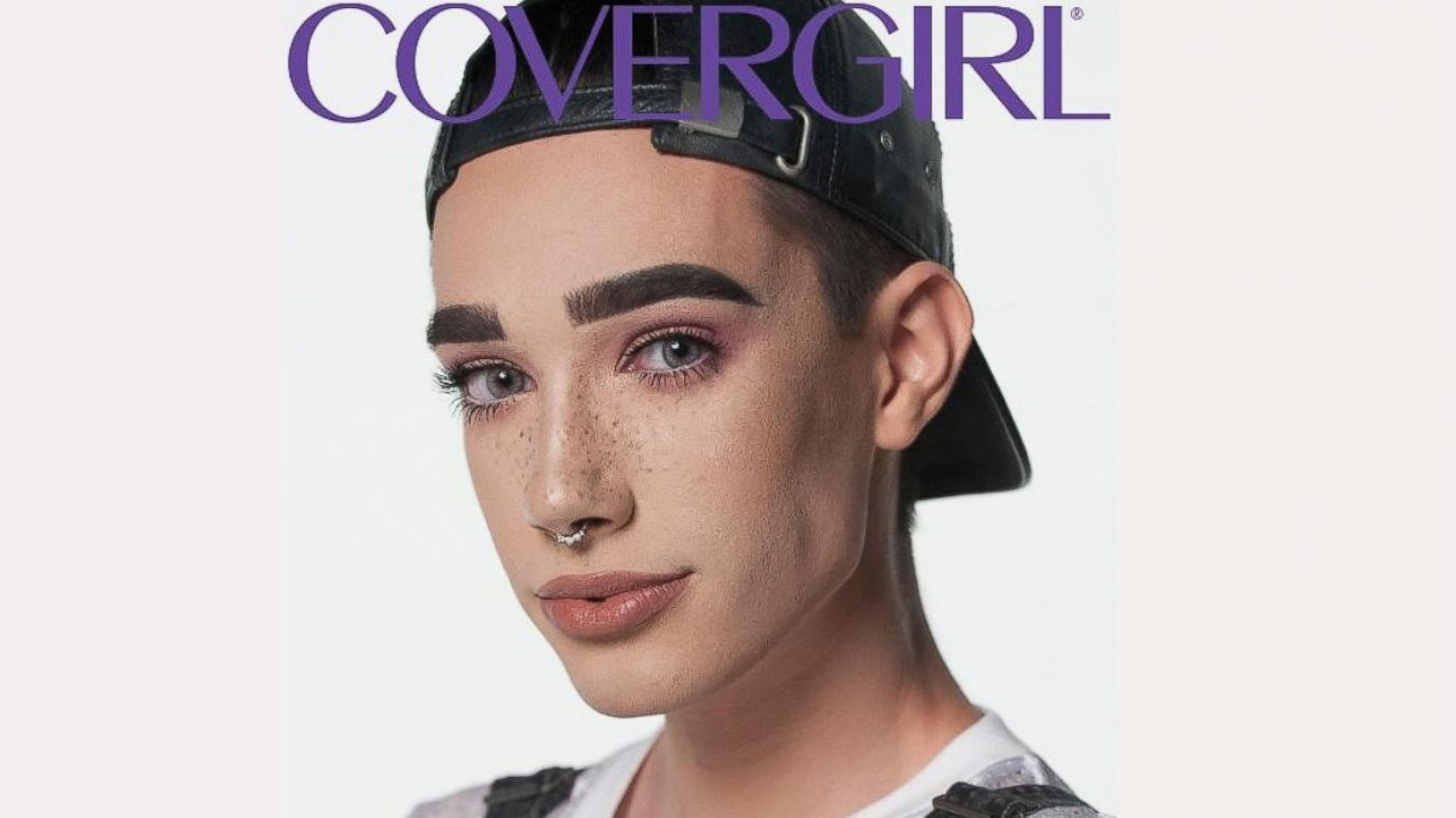 James Charles, Covergirl's first ever Coverboy is credited as one of the most successful male beauty gurus on YouTube. Image  via