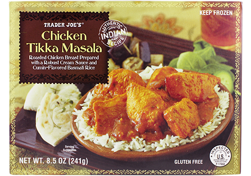 Chicken Tikka Masala - I don't know if it's authentic, but it's really good. Hands down the best item in the frozen section.