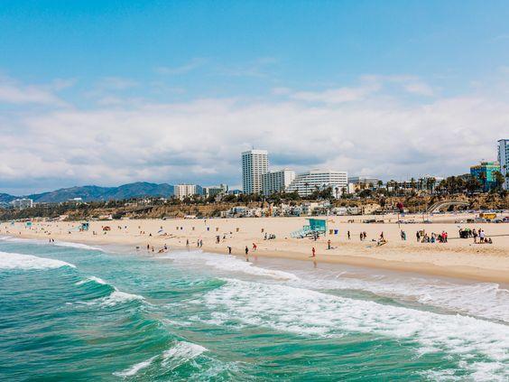 Santa Monica Beach. Image  via .