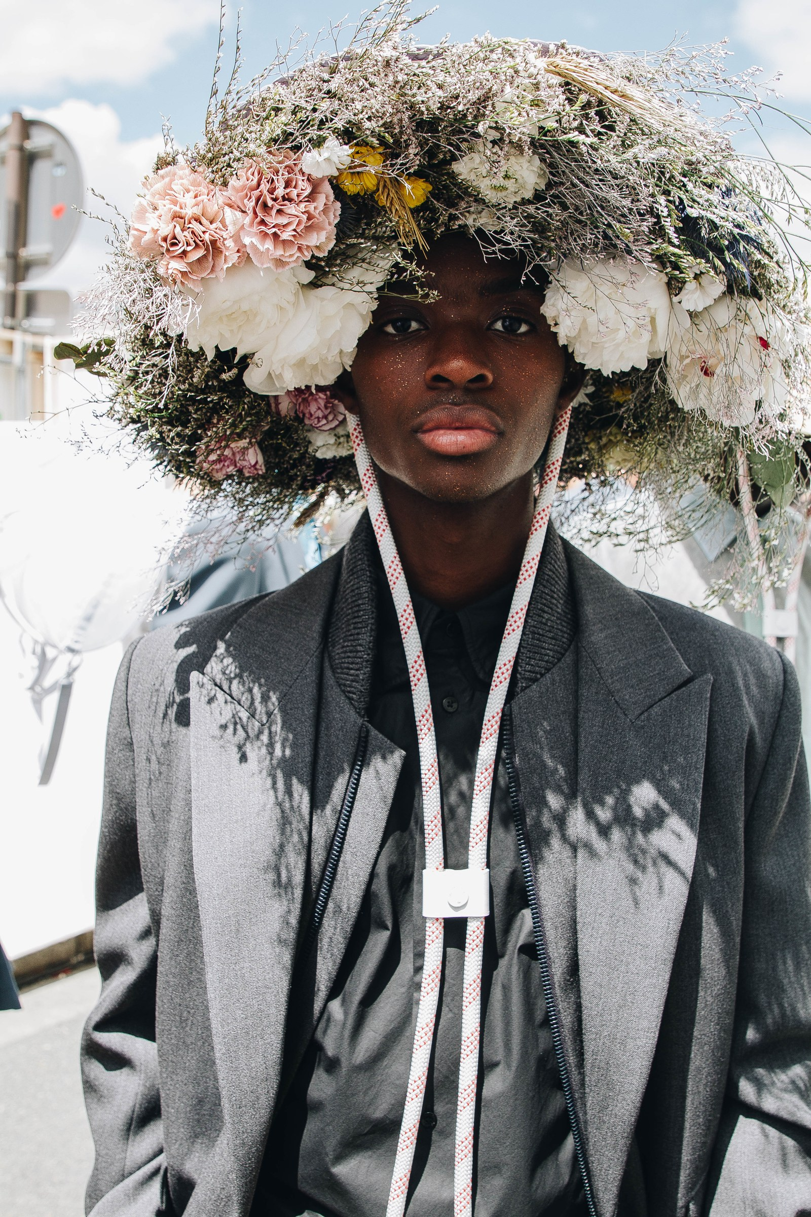 At Louis Vuitton, Virgil Abloh expressed his desire for diversity through floral imagery. Image  via