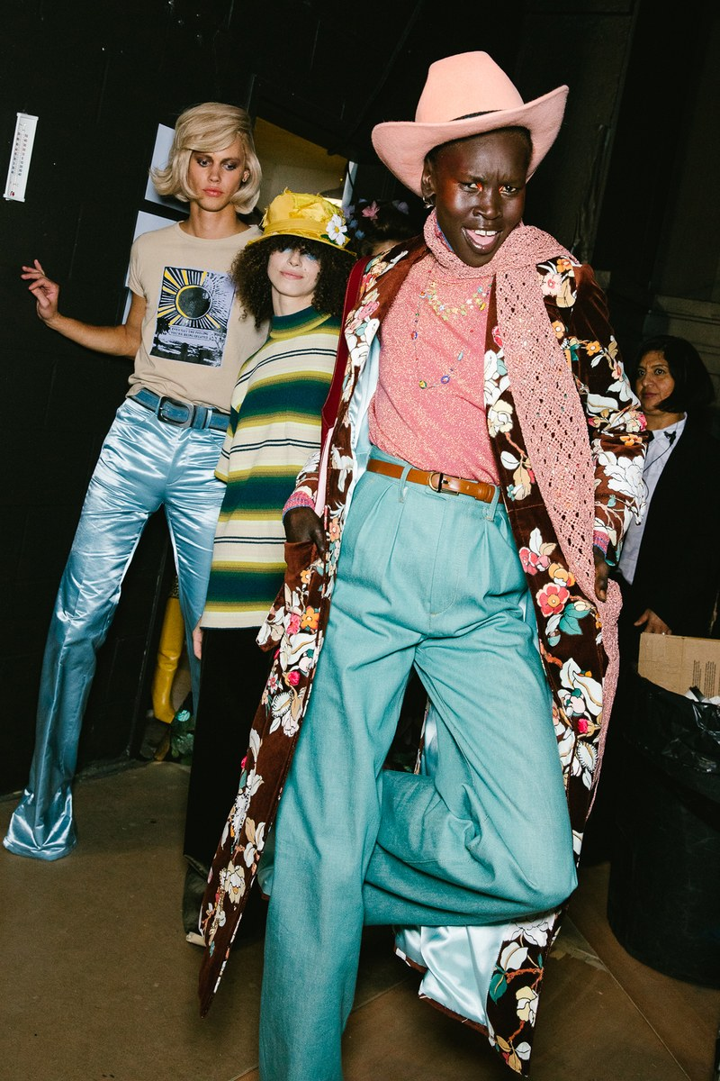 It's all about bold prints and hats at Marc Jacobs, image  via: