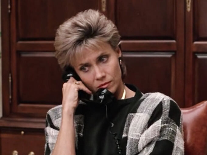 Katie Bueller (Cindy Pickett) epitomizing 80's business casual. Image  Via
