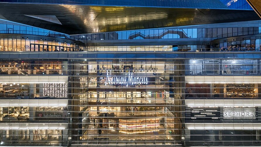 Neiman Marcus Hudson Yards opened March 15th of 2019 and holds 188,000 square feet of retail space.  Image    via