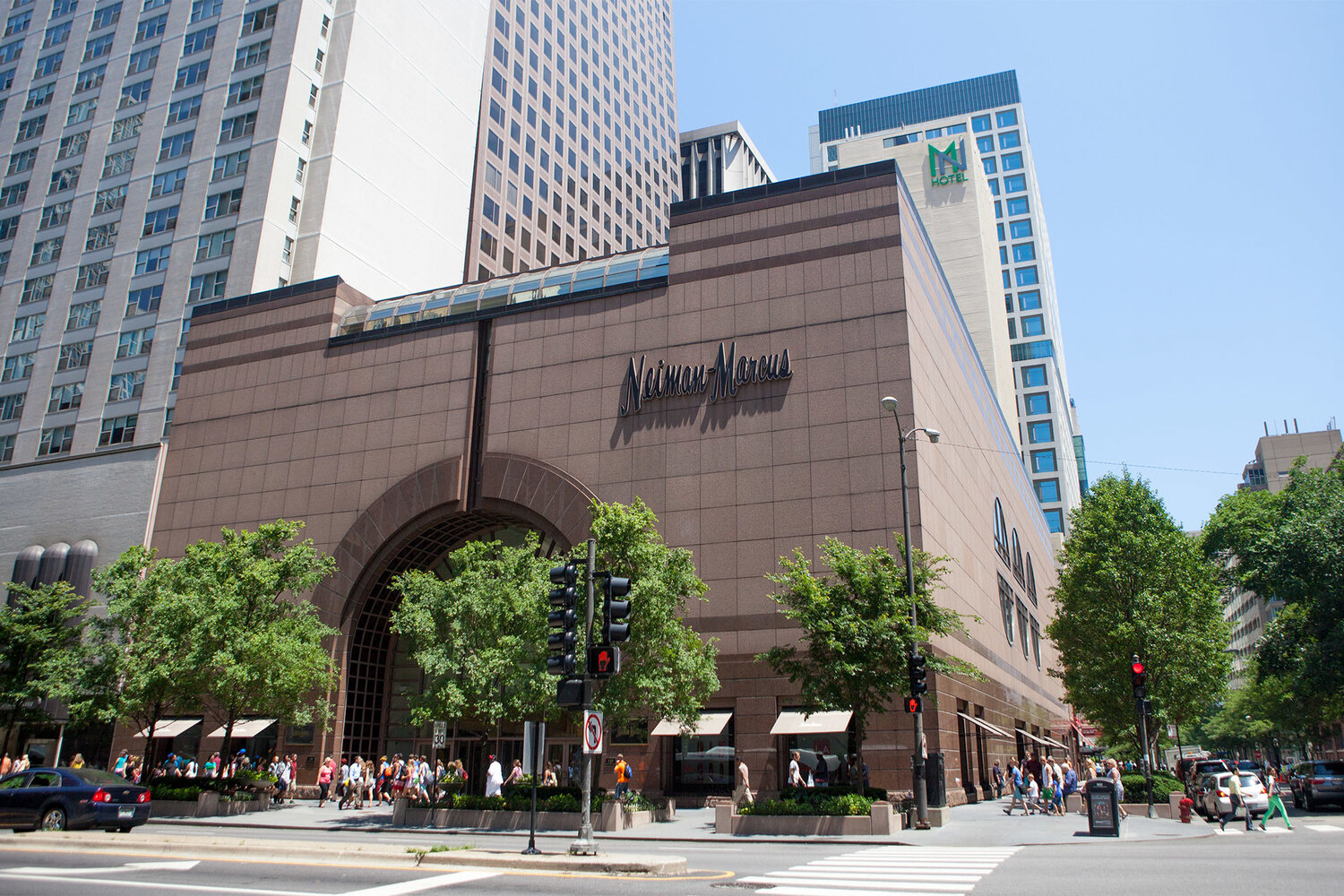 Neiman Marcus Chicago, on the famed Magnificent Mile. Image  Via