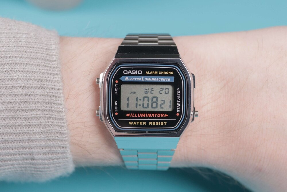 The effortlessly stylish Casio A168. Image  Via