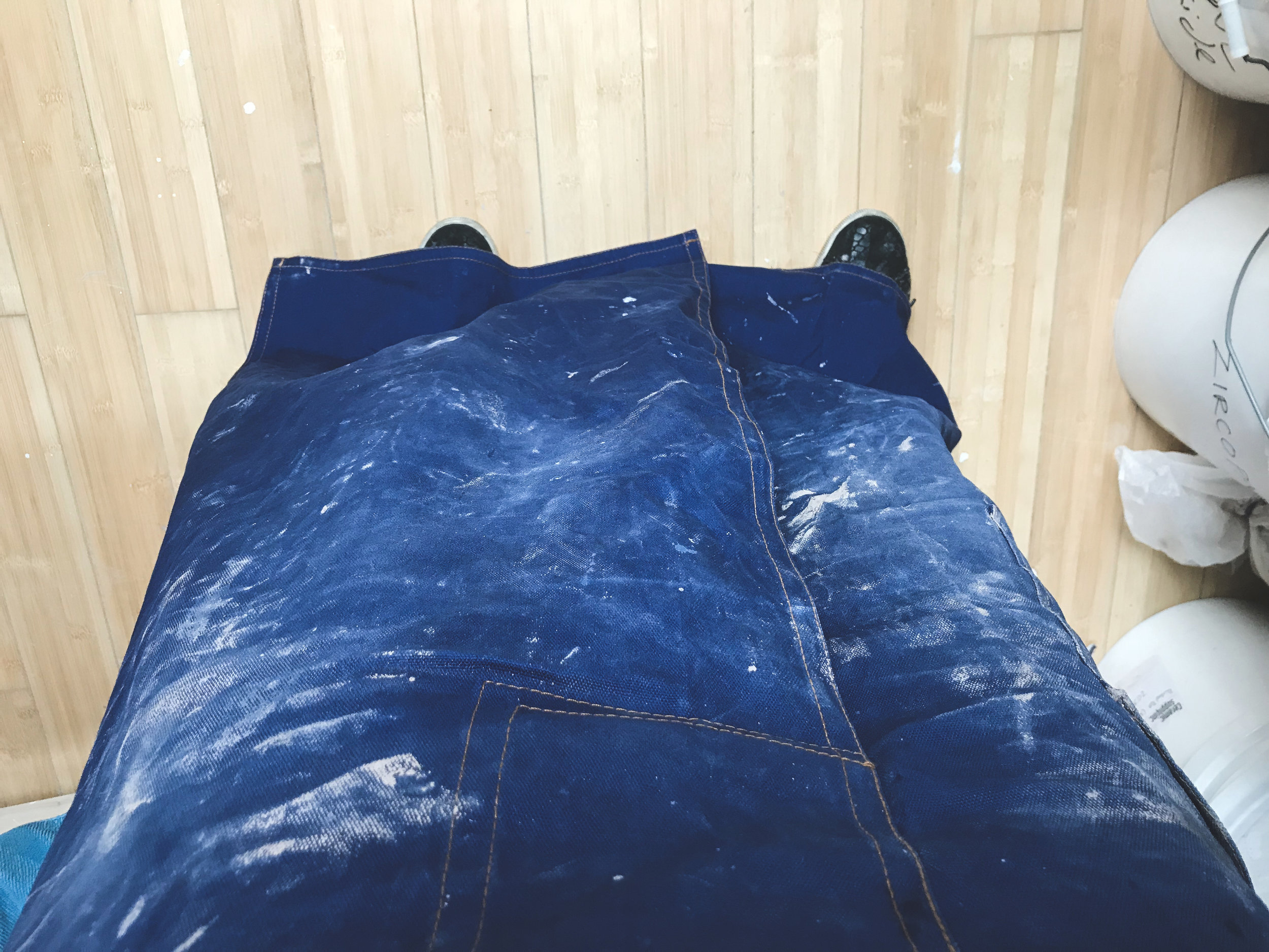 """Måns gave me a Baleia Blu blue """"claypron,"""" and it's the best. It's split down the middle, so that it actually works when you're on the wheel. And it's so beautifully blue."""