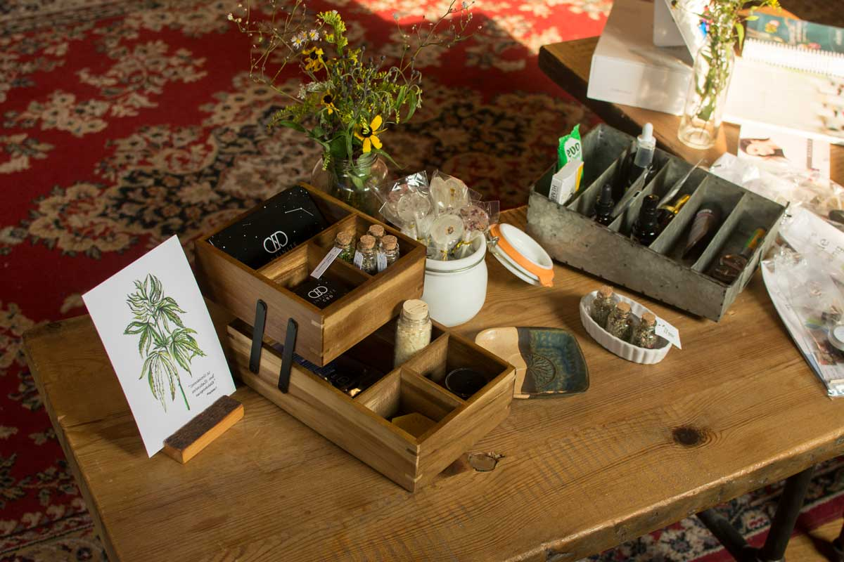 We had a variety of CBD and hemp products, herbs, and literature for people to browse