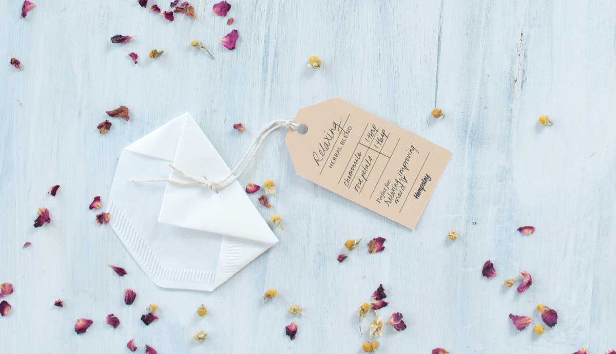 If you made your own blend, fill in the blank spaces on the tag so you can remember what's inside and what it can be used for (review our Healing Herbs article for therapeutic properties of our 8 favorite herbs below)