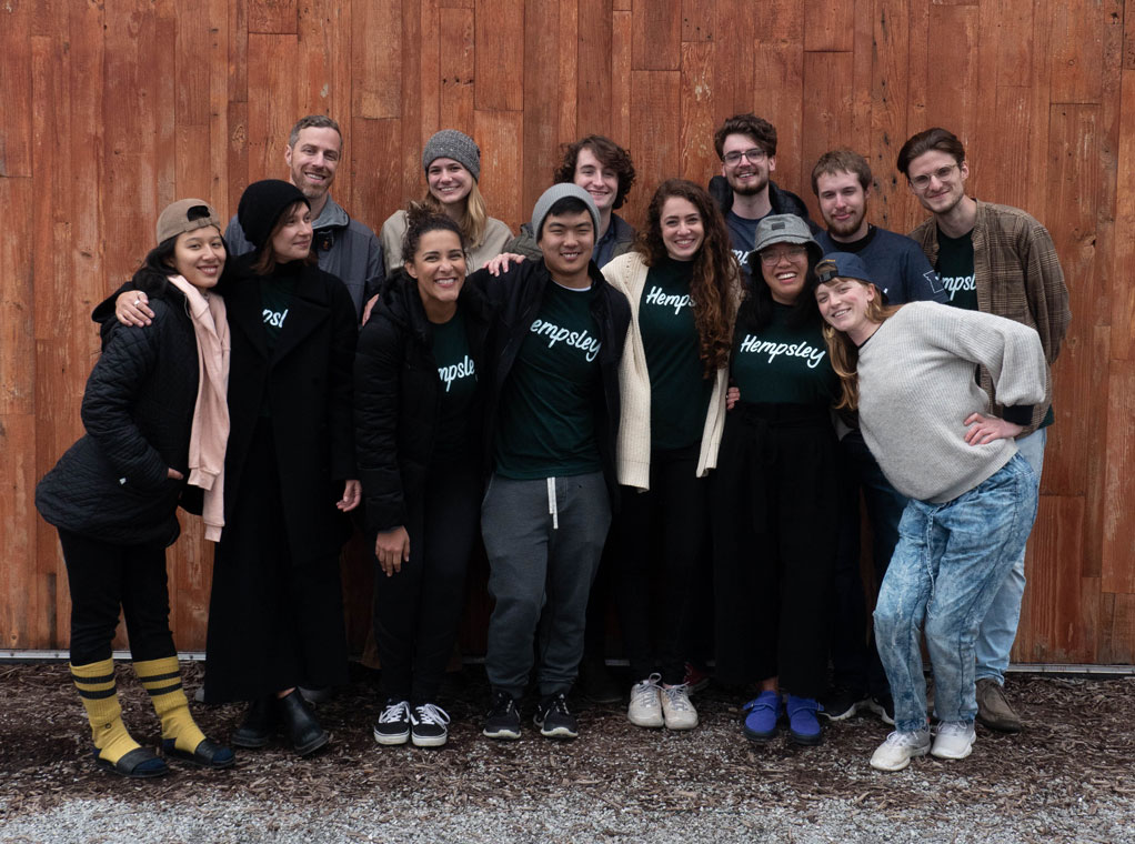 The Heart of Health Exchange Team, after our event at Logboat!  Pictured (from back to front, left to right): Gary Kanning  (420 Science),  Jessica M (volunteer), Austin B (intern), Patrick M (intern), Brett W (Hempsley CFO), Justin McDaniel (volunteer), Felicity Chen  (Potli),   (Canna Curious Club),  Melissa Glaze  (Holistica Wellness) , Vinnie DeBono (intern), Kristen Williams (Hempsley CEO), Geraldine Mae Cueva  (The Art of),  Raelina Krikston  (Haiikuu Design),   Photo by Joyce Chen, Shirts by    One to One Print Shop